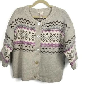 Sundance Nordic Cardigan with Silver Threads Large